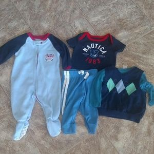 Bundle 6-9M / 9M Boys Lot PJ's, Vest, Jogger, etc.